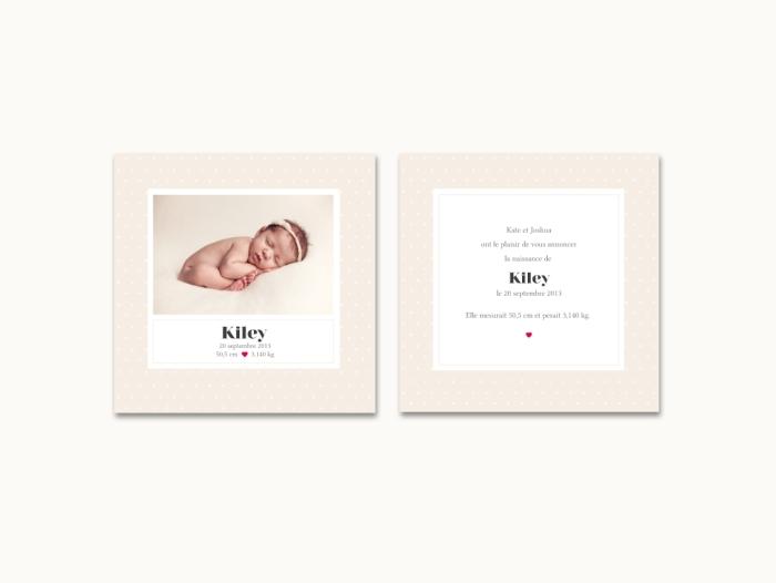Faire-part de naissance Kiley