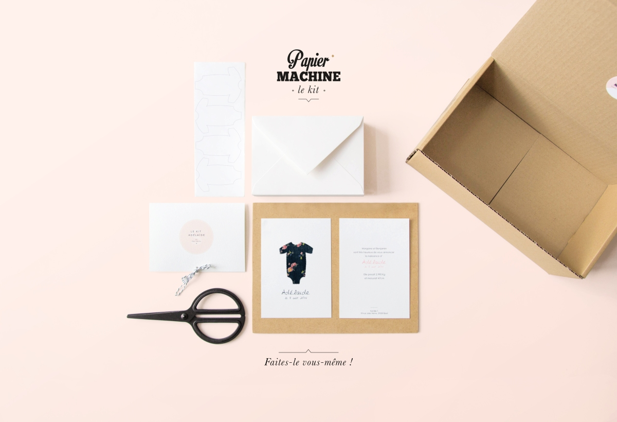 le kit faire part de naissance diy. Black Bedroom Furniture Sets. Home Design Ideas